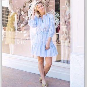 Joie Adel Cotton fil Coupé Tiered Mini Dress
